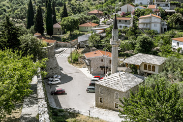 Mosque near the old town of Bar in Montenegro on a summer day
