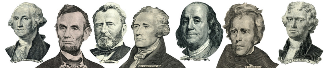 President portraits from money Wall mural