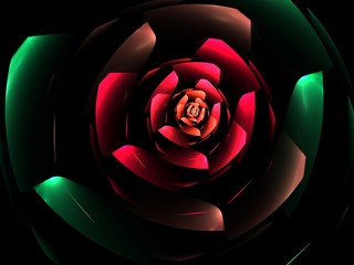 Creative rose flower abstract fractal background