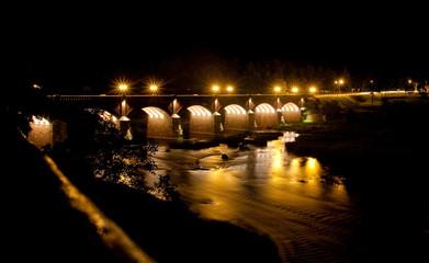 A brick bridge in Kuldiga, Latvia