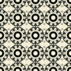 Stylized Flowers Seamless Wallpaper.