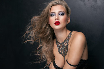 Beauty portrait of elegant woman.