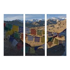 Leh Ladakh photo collage frame on isolated background