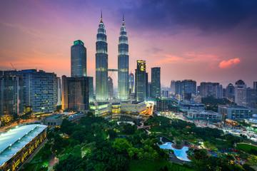 Zelfklevend Fotobehang Kuala Lumpur Kuala Lumpur Skyline