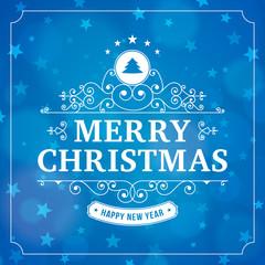 merry christmas vintage line art background