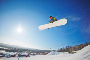 Active snowboarder