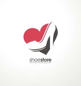 Creative symbol concept for shoe store
