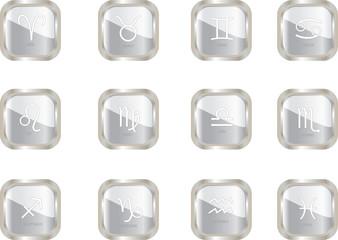 zodiac button - vector
