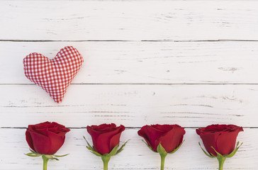 Herz Rot Rosen Liebe Karte