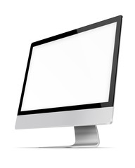 Modern flat screen computer monitor.