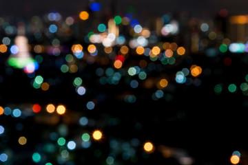 blurred bokeh cityscape