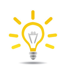 light bulb idea vector illustration