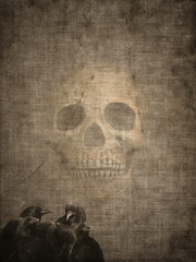 Halloween old textured paper background