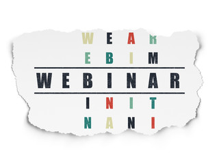 Learning concept: Webinar in Crossword Puzzle