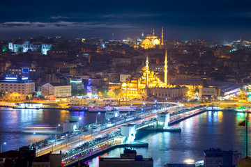 Night life in Istanbul, Panorama of the famous places of city
