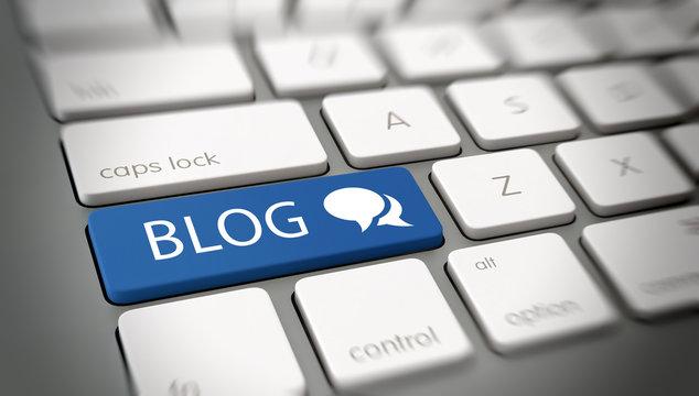 Online blog and blogspot concept