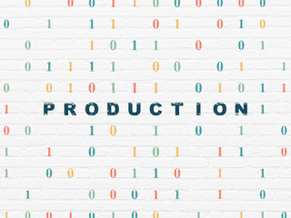 Business concept: Production on wall background