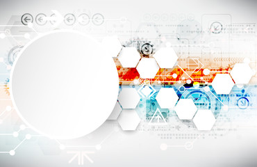 Obraz Colorful techno background schematic. - fototapety do salonu