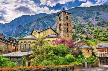 Sant Esteve church in Andorra la Vella, Andorra Fototapete