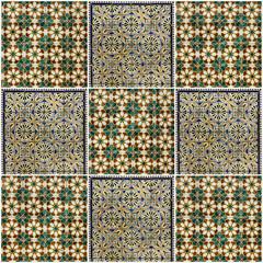 Fotomurales - ornamental background. Ceramic tile