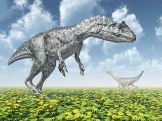 Allosaurus and Camarasaurus