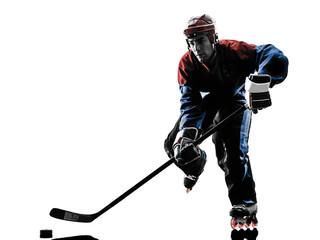 hockey man player silhouette