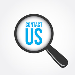 Contact Us Magnifying Glass