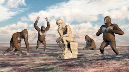 Denker und Gorillas