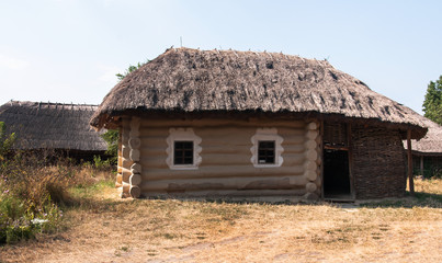 The ancient building of the shed in the garden