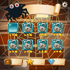Screensaver of halloween theme game.