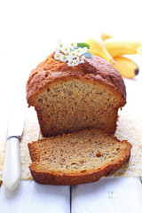 banana cake, bread