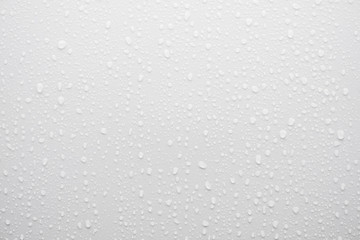 water drop on white surface