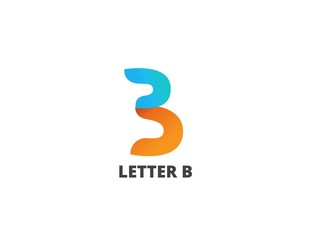 Letter B, logo icon design template. Vector business elements.