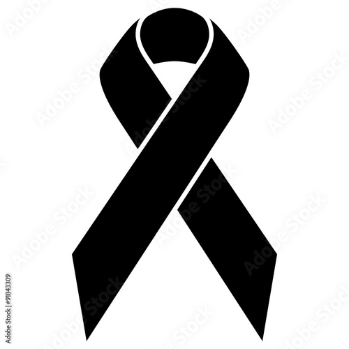 Awareness ribbon aids cancer breast cancer symbol icon black and