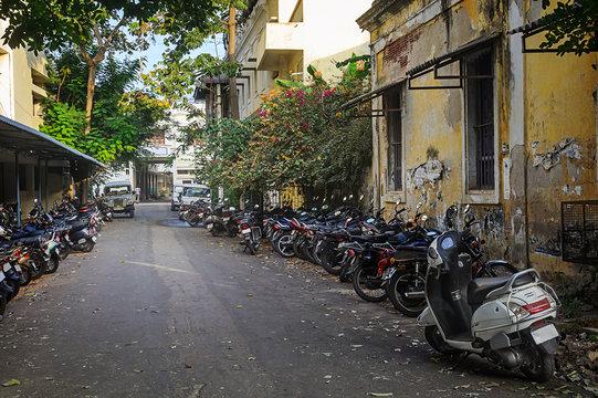 Motorbike parking .