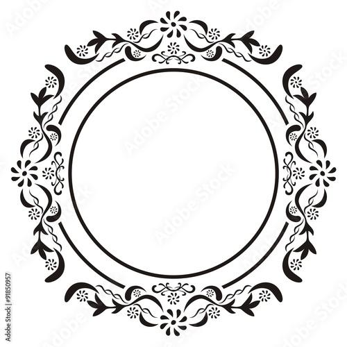 Circle Vintage Frame Vector\