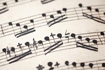 Sheet music close-up