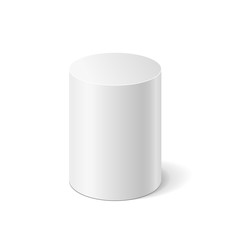 Vector white cylinder