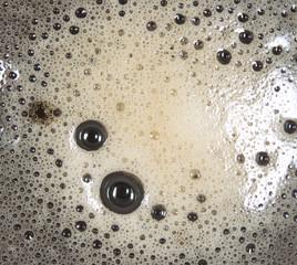 coffee foam. close-up