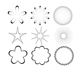 Flower and stars shapes