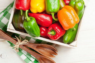 Fresh colorful bell pepper