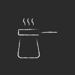Coffee turk icon drawn in chalk.
