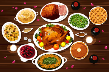 Food of Thanksgiving Dinner