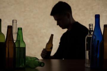Canvas Prints Bar Adolescent drinking beer
