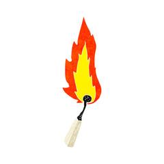cartoon burning match