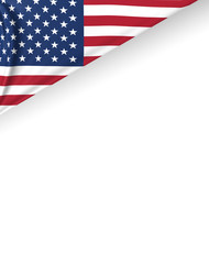 USA Flag, American Background, United States of America