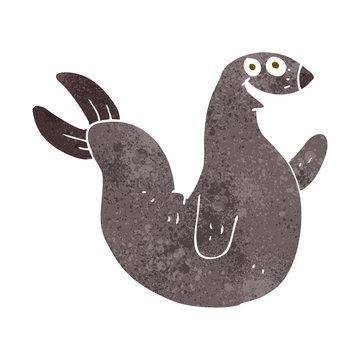 cartoon happy seal