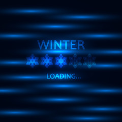 Waiting for winter concept. Loading bar, modern design