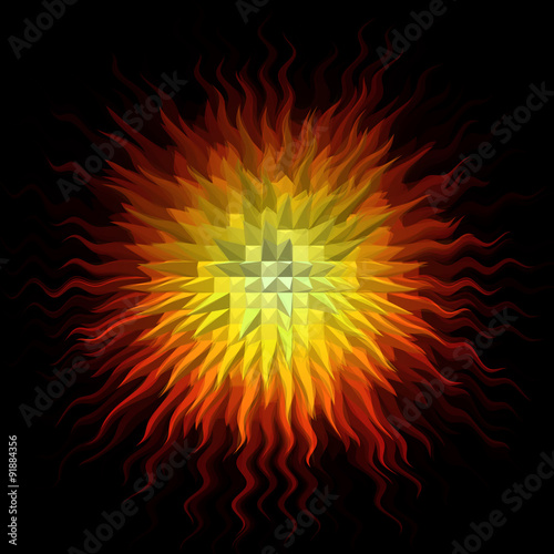 Wall mural Psychedelic abstract burst background