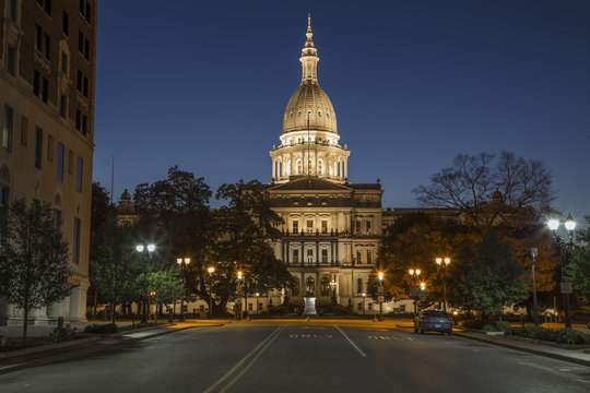 Michigan Capital at Night